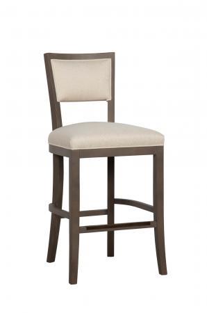 Fairfield's Hale Modern Wood Bar Stool in Cream Seat and Back Cushion