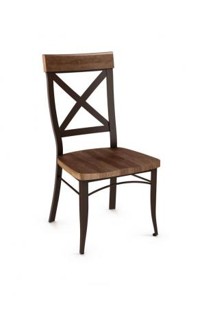 Amisco's Dining Chair with Distressed Wood Seat
