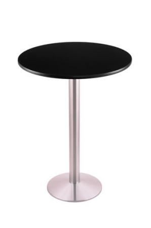 """214-16 Stainless Steel 30"""" Round Black Table"""