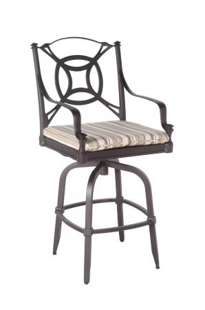 Shown as Bar Height with Seat Cushion
