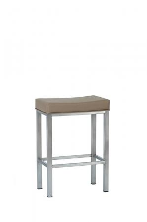 Wesley Allen's Seattle Backless Saddle Stool with Padding on Seat and Straight Legs
