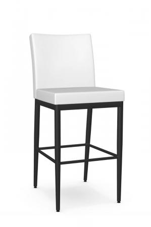 Metal Finish: 25 Black Coral • Seat and Back Covering: DH Blizzard, vinyl