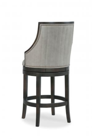 Fairfield's Robroy Upholstered Swivel Bar Stool with Vertical Channel Quilting on Tall Backrest