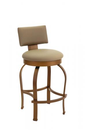 Wesley Allen's Eureka Swivel Barstool with Back in Opaque Copper Finish