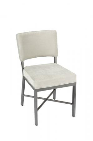 Wesley Allen's Miami Modern Upholstered Dining Chair in Gray