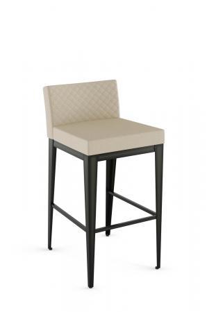 Amisco's Ethan Upholstered Stationary Modern Bar Stool with Quilted Back