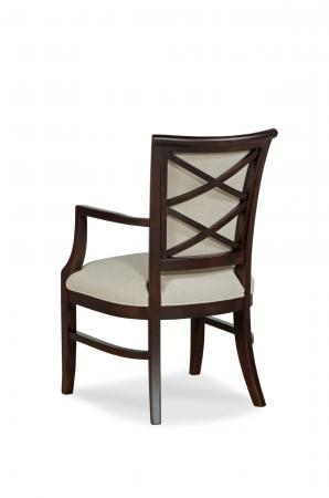Fairfield Chair's Mackay Transitional Upholstered Wooden Dining Chair in Brown - Back View