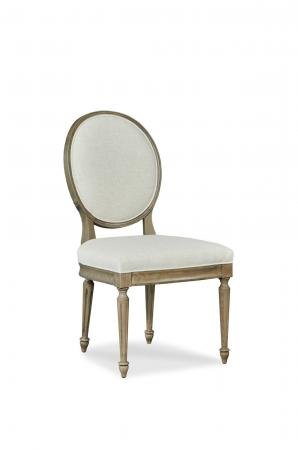 Fairfield's McGee Elegant Wooden Upholstered Dining Chair with Oval Back