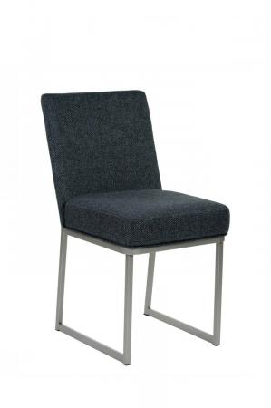 Wesley Allen's Marbury Modern Upholstered Dining Chair with Sled Base