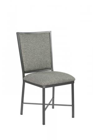 Wesley Allen's Morrison Upholstered Gray Dining Chair and Metal Frame