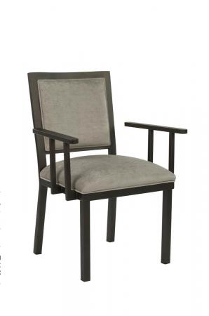 Wesley Allen's Windsor Brown Modern Dining Chair with Upholstered Seat and Back