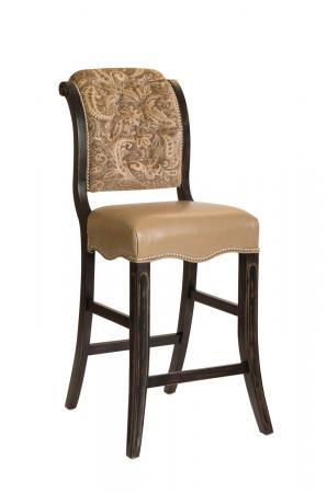 Darafeev's Madrid Upholstered Bar Stool with Nailhead Trim