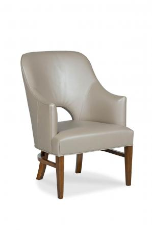 Fairfield's Vanessa Upholstered Wood Dining Chair with Tall Back and Arms
