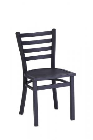 Holland's OD400 Black Outdoor Dining Chair with Ladder Back Design