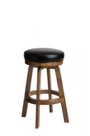 Darafeev's 965 Backless Wood Maple Swivel Bar Stool