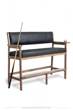 Darafeev's #907 Spectator Billiard Bench with Arms and Cup Holders and Pool Cue Holders