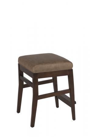 Maple Wood Finish: Ash Brown • Seat Cushion: Saloon Mushroom, leather