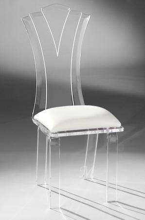 Muniz Princess Acrylic Modern Dining Chair with Seat Cushion