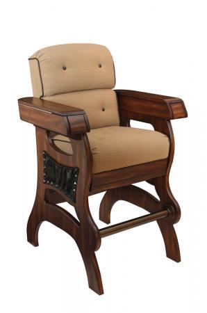 Darafeev's Habana Wood Upholstered Cigar Chair with Arms - Multifunctional Bar Stool