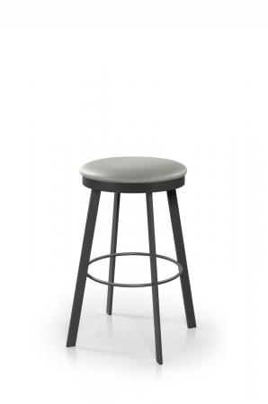 Trica's Ally Backless Swivel Bar Stool with Round Seat