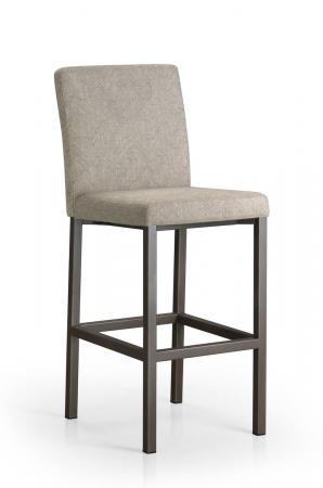 Trica's Basso Upholstered Modern Bar Stool with Back in Tan Cushion
