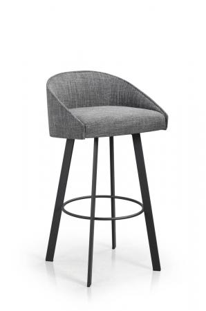 Trica's Liv Modern Swivel Bar Stool Upholstered with Low Back
