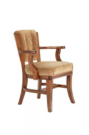Darafeev's 960 Upholstered Button-Tufted Wooden Club Chair with Arms