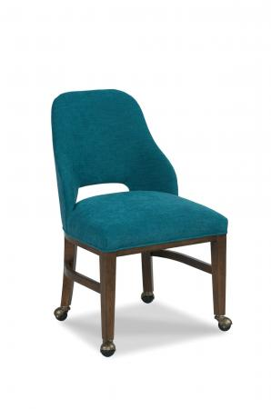 Fairfield's Darien Upholstered Dining Chair with Casters