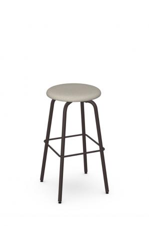 Amisco's Button Backless Swivel Bar Stool - Affordable Custom Made Stool