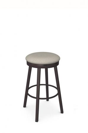 Amisco's Connor Swivel Backless Bar Stool in Brown