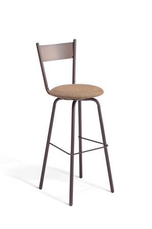Amisco Crystal Swivel Stool with Padded Seat