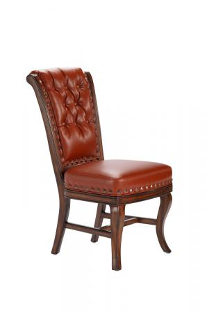 Darafeev's Pizarro Upholstered Button-Tufted Dining Chair with Nailhead Trim in Red