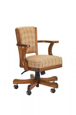 Darafeev 910 Swivel Adjustable Game Chair in Maple Wood with Arms
