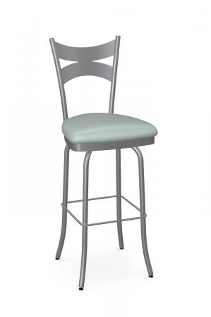 Amisco's Meadow Nickel Metal Finish and Seafoam Green Seat Cushion