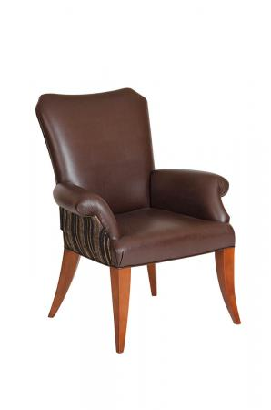 Darafeev's Treviso Upholstered Flexback Dining Chair with Arms and Wood Frame