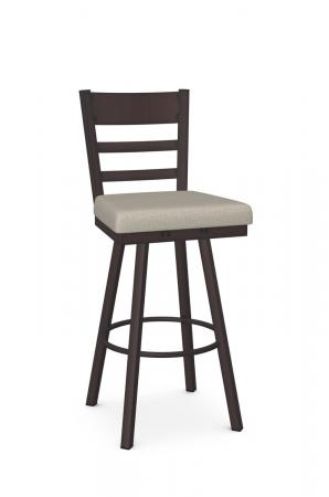 Amisco's Owen Traditional Ladder Back Bar Stool in Bronze