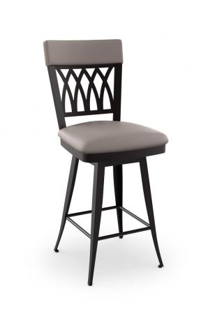 Amisco Oxford Swivel Stool with Cross Back Design