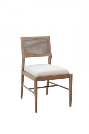 Fairfield's Larson Armless Side Chair in Wood Frame and Cane Back