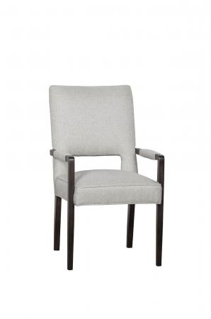Fairfield's Thompson Wood Upholstered Dining Chair with Padded Arms