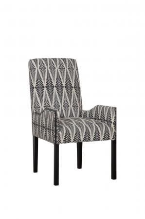 Fairfield's Watermill Upholstered Arm Chair with Tall Back and Wooden Frame