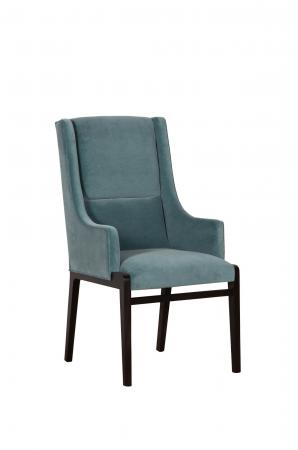 Fairfield's Briarcroft Arm Chair in Mint Green Fabric and Wood Frame