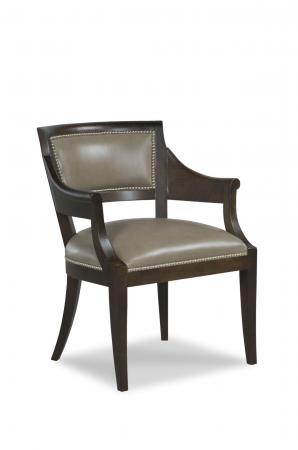 Fairfield's Gilroy Wood Upholstered Dining Chair with Arms and Nailhead Trim