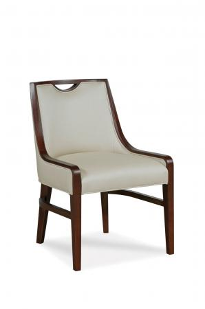Fairfield's Anthony Wood Upholstered Dining Chair with Partial Arms