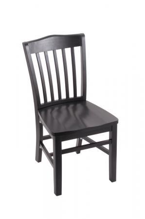 Holland's 3110 Hampton Black Dining Chair with Slat Back Design