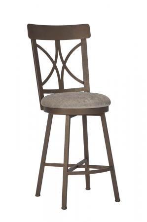 Wesley Allen's Camarillo Swivel Bar Stool in Copper with Back