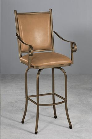 Wesley Allen's Lennon Swivel Counter Stool with Arms