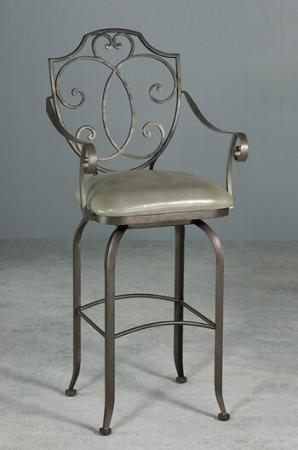 High End Designer Swivel Stool with Arms