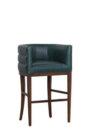 Fairfield's Allie Modern Wood Bar Stool with Low Curved Back