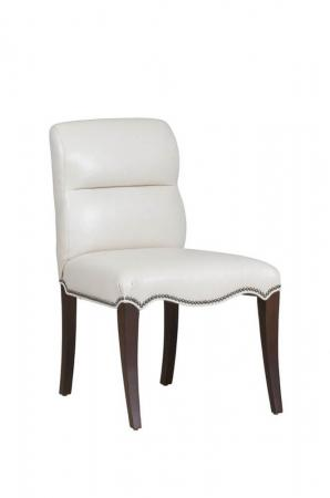 Fairfield's Magnolia Classic Wood Side Chair with Nailhead Trim and Upholstered Seat/Back