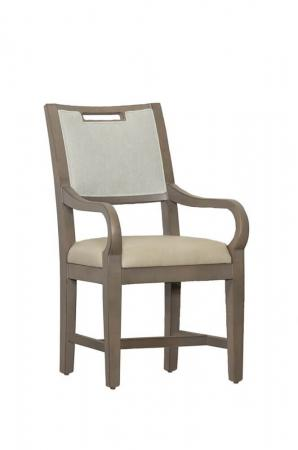 Fairfield's Reece Classic Dining Chair with Seat Back Cushion and Arms